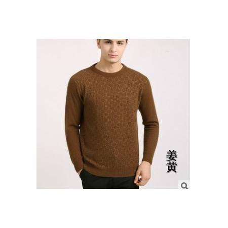 秋冬中年商务保暖貂绒上衣 新款男士长袖毛衣 圆领100%貂绒衫 祥盛包邮