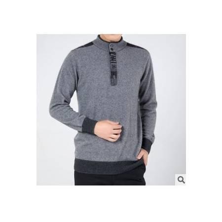 圆领纯色100%貂绒衫 套头打底羊绒衫男士冬季长袖针织毛衣 祥盛包邮