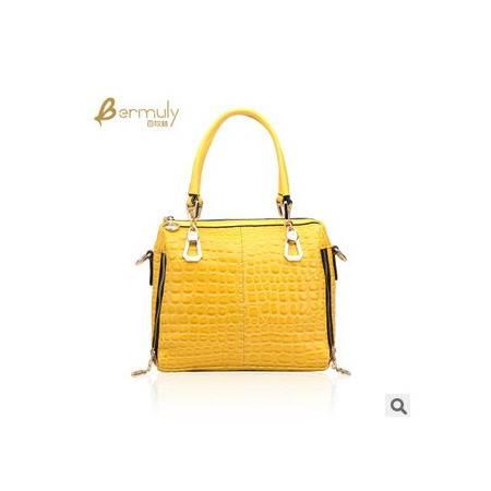 欧美鳄鱼纹女士包包单肩斜跨手提包包 时尚女包小包包邮