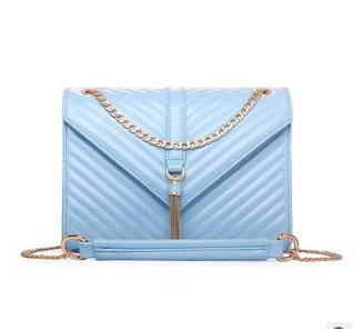 欧美时尚潮流女包2015新款V字绣线链条单肩斜挎小包征途