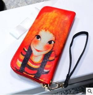 多卡位手机包零钱包2015新款时尚潮流彩绘女士手拿包 征途