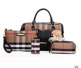单肩斜挎女士手提多用包包欧美时尚爆款经典格纹子母包征途包邮