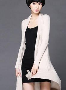 秋季新款女士长款毛衣开衫修身外套春秋薄款针织衫披衫外搭永飞