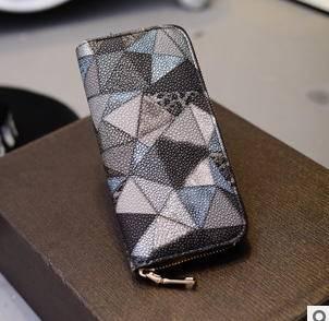 多卡位女士手拿包零钱包韩版时尚新款彩色长款钱夹征途