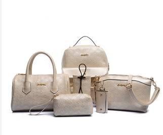 女士双肩包手提单肩斜挎百搭包包欧美时尚爆款六件套子母包征途包邮
