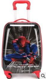 迪士尼系列卡通16寸万向轮行李箱蜘蛛侠男孩儿童拉杆箱包旅行箱右手方包邮