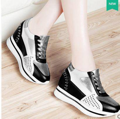 内增高女鞋韩版运动休闲鞋单鞋女2015秋季新款厚底松糕鞋包邮