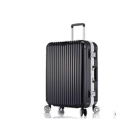 20/24/28寸万向轮旅行箱出国行李箱铝框拉杆箱右手方包邮