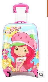 小学生行李箱子卡通箱包草莓女孩18寸儿童拉杆箱万向轮可爱旅行箱右手方包邮