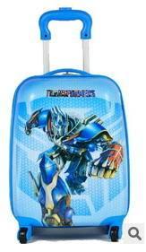18寸万向轮旅行箱子 学生行李箱包登机箱变形金刚超酷儿童拉杆箱右手方包邮