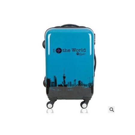 男女abs万向轮行李箱子时尚飞机旅行箱铁塔拉杆箱24寸右手方包邮
