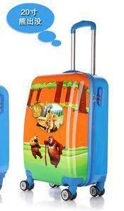 20寸学生粉色公主箱儿童拉杆箱可爱卡通行李箱飞机轮旅行箱包右手方包邮