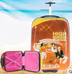 16寸pc旅行箱行李箱学生箱包儿童礼品 可爱小学生蛋形卡通拉杆箱右手方