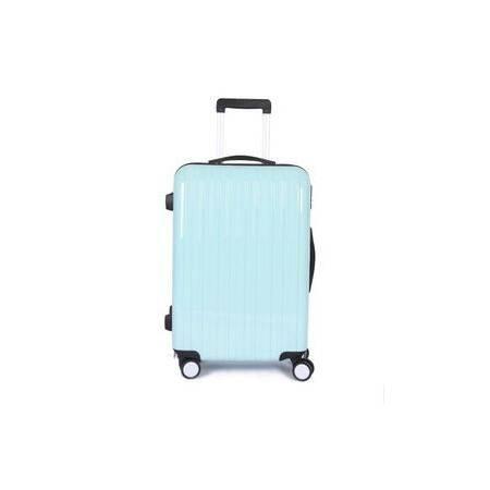20寸登机箱pc亮面24寸旅行箱子新款薄荷绿万向轮拉杆箱韩国男女右手方包邮