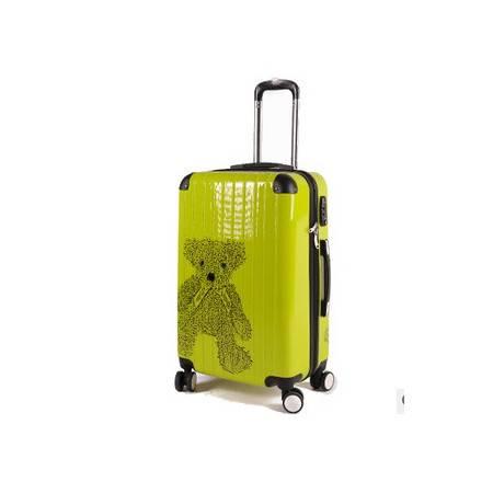 红色结婚箱拉杆箱扩容20寸24寸行李箱子lulu小熊旅行箱右手方包邮