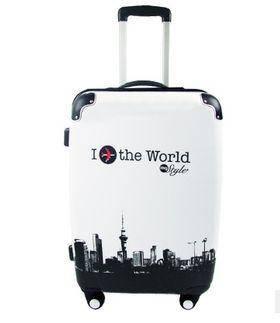 28寸大容量出国男女万向轮拉杆箱包时尚黑白飞机旅行箱右手方包邮