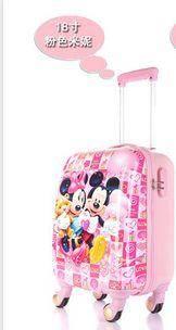 可爱卡通行李箱万向轮旅行箱正品儿童拉杆箱18寸小学生abs登机箱右手方包邮