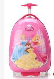 16寸卡通行李箱女白雪公主迪斯尼系列儿童旅行箱包拉杆箱万向轮 右手方包邮