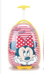 学生登机箱书包米奇米尼迪斯尼系列旅行箱包16寸万向轮儿童拉杆箱右手方包邮