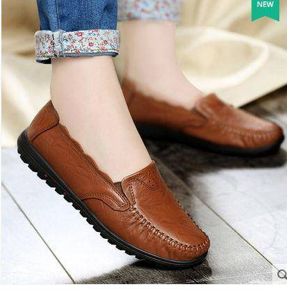 舒适套脚软底女鞋单鞋女2015秋季新款复古时尚浅口真皮鞋包邮