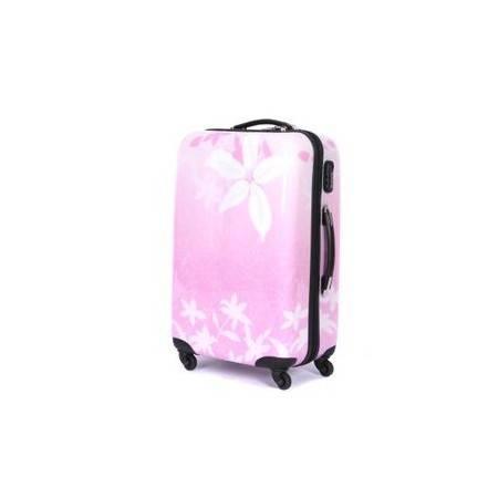 韩国女20寸登机箱旅行箱万向轮行李箱时尚紫荆花abs拉杆箱右手方包邮