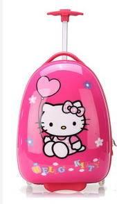 登机箱学生时尚韩国箱包kt猫卡通16寸万向轮拉杆箱可爱儿童旅行箱右手方包邮