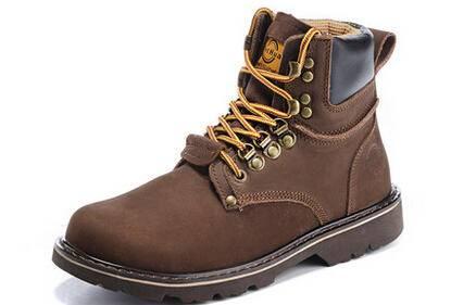 马丁靴潮男英伦秋冬男靴子真皮靴高帮军靴男士短靴雪地工装靴沙漠