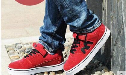 2015夏季韩版增高鞋反绒皮运动休闲鞋真皮厚底板鞋潮男n字男鞋子