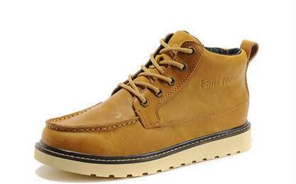 范特华特春秋工装靴男英伦短靴伐木鞋皮鞋男靴潮高帮鞋军靴户外靴