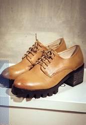 英伦风布洛克复古漆皮擦色系带厚底粗跟高跟单鞋2015秋季新款女鞋美高包邮