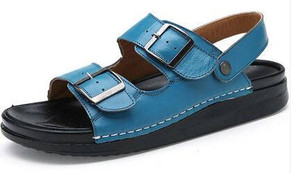 男式凉鞋夏季2015新款厚底增高拖鞋潮流透气沙滩鞋休闲男凉鞋真皮