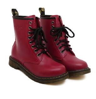 女英伦复古女鞋秋冬中筒机车系带短靴子 欧美2015新款马丁靴美高