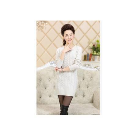 韩版修身显瘦中长款毛衣百搭上衣外套单穿打底衫大码套头女装永飞