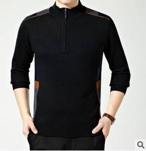 商务男式宽松套头上衣爆款秋冬新品时尚半高领针织羊绒打底衫永盛泰包邮