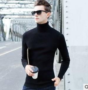 男士羊毛衫高领韩版男装针织线衫 男式长袖毛衣15新品秋冬款 永盛泰包邮