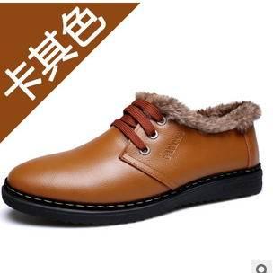 男士加绒加厚保暖皮鞋品牌男鞋冬季新品承发