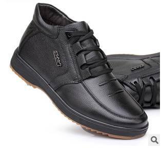 老人男士棉鞋 男靴子真皮保暖靴手工棉鞋富宏包邮