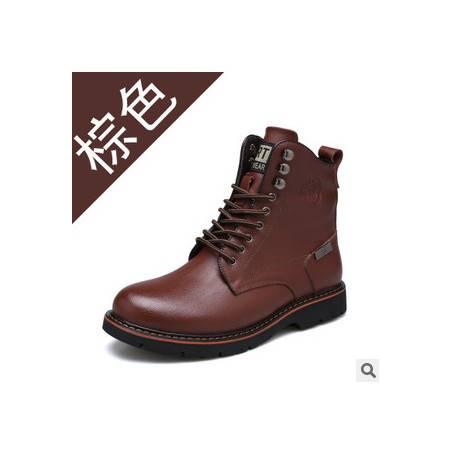 男士品牌加绒真皮男鞋休闲棉靴马丁靴秋冬新品承发包邮