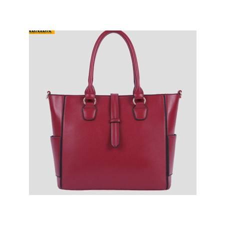 职业女式手提包PU单肩包大包包新品韩版品牌女包新安雅