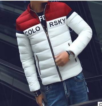 青少年学生棉袄立领棉衣男秋冬新款加厚棉服韩版修身男装外套玛尚