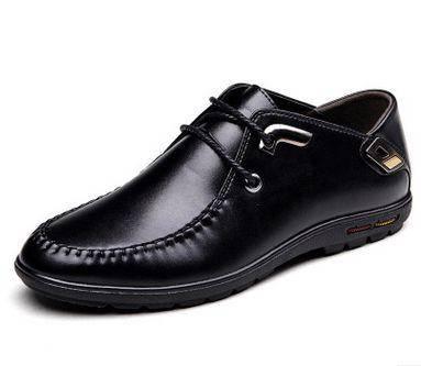 系带男款低帮透气潮鞋单鞋男春季新款时尚男士韩版休闲皮鞋男卡劲