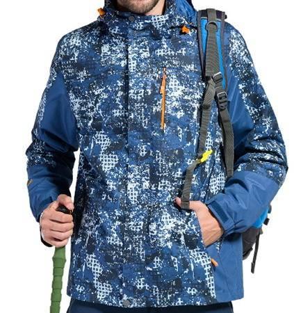 内胆加厚珊瑚绒滑雪服公版贴标韩版户外迷彩情侣两件套冲锋衣男银锋包邮