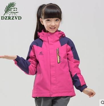 休闲防风防泼保暖三合一冲锋衣新款儿童时尚拼接银锋包邮