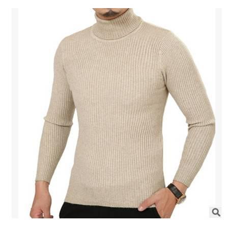 加厚弹力高领羊毛衫男羊绒打底衫冬季新款男毛衣青年韩版纯色套头莫菲包邮