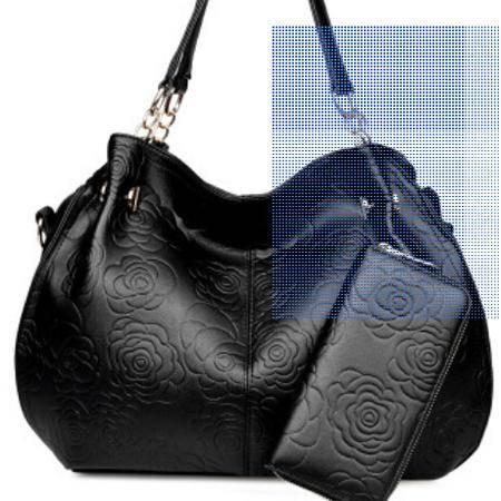 单肩斜挎大容量女包欧美时尚新款压花手提包 征途包邮