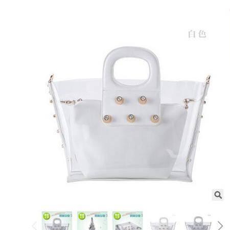 新款春手提包 女士透明包中包 通勤百搭时尚手提包包华大