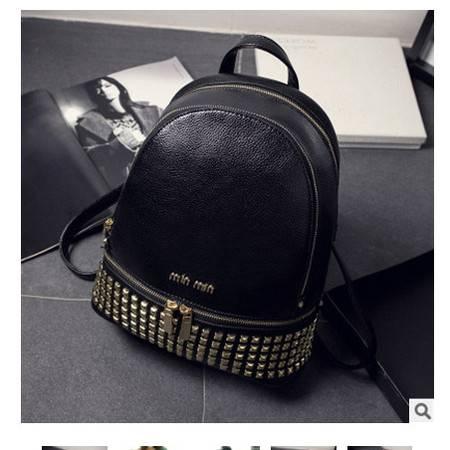 时尚大牌双肩包旅行背包2016韩版爆款铆钉女包新安雅包邮
