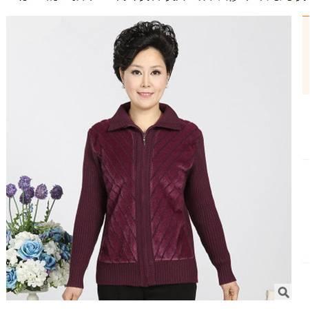中年妈妈装毛衣新款中老年女装春装外套针织衫系卖