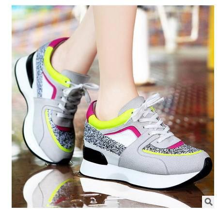 厚底单鞋女韩版潮鞋女鞋新款低跟运动休闲鞋包邮