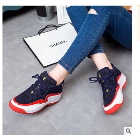 女款时尚休闲鞋2016新款韩版运动跑步鞋包邮